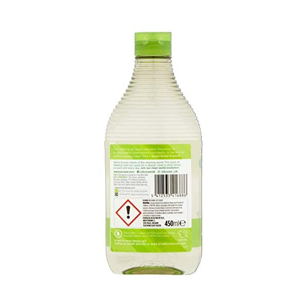 Ecover Washing Up Liquid, Lemon & Aloe Vera, 450 ml