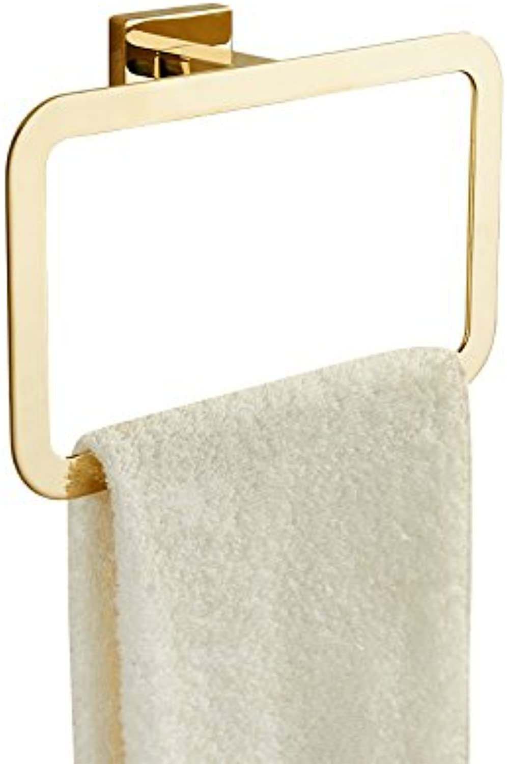 Hardwareh Towel Ring, Stainless Steel, Hao gold Towel Hanging Ring Toilet Hardware Pendantmodern Simple and Durable Home Decoration Classic Quality Assurance