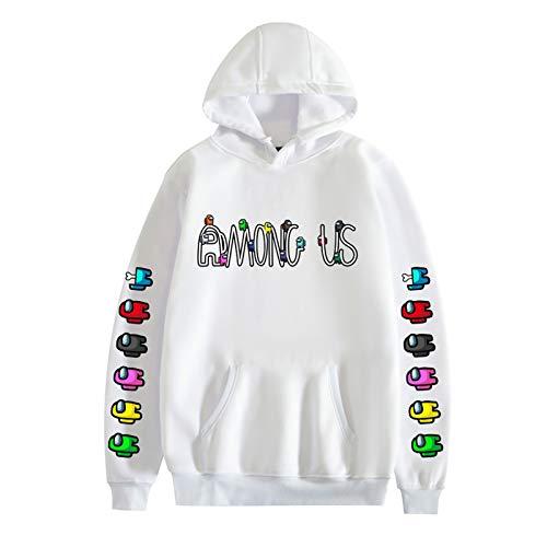 YONGKE Unisex Sudadera con Capucha Hip Hop Juego Alrededor Larga Manga Sweatshirt para Hombres Mujeres Streetwear Pullover