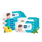 Thoroughly cleanses baby's delicate skin Made of spun lace, non-woven material Enriched with lemon extracts that give a cooling and soothing effect to baby's skin Hypoallergenic ingredients and dermatologically tested 100 percent bacteria free, alcoh...