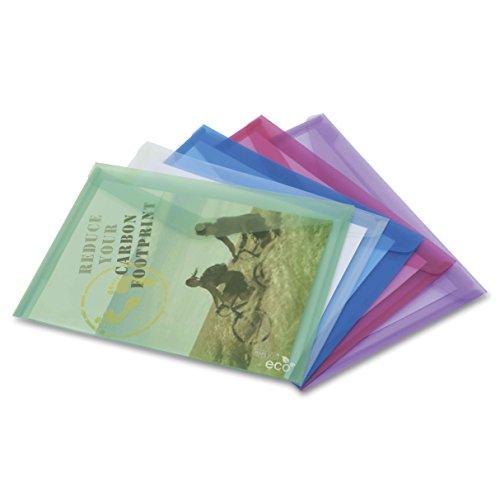Rapesco Documentos - Carpeta A4+ fabricada con materiales ecologicos, colores traslúcidos, 5 unidades