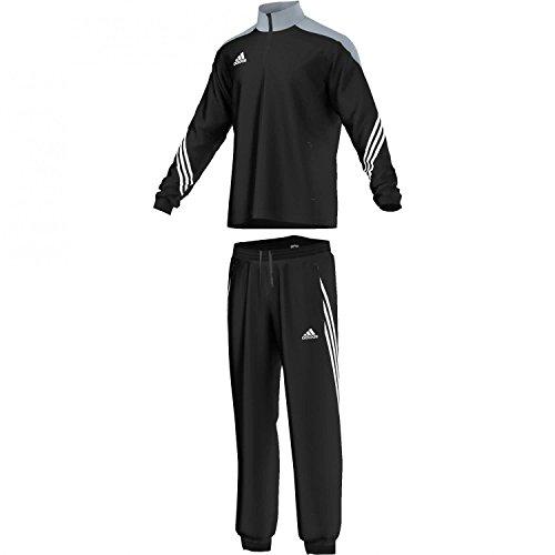 adidas, Sereno 14, Tuta da presentazione, Uomo, Colore Multicolore (Top:Black/Silver/White Bottom:Black/White), Taglia S