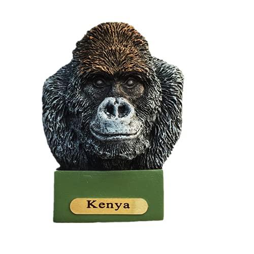 3D Gorilla of Kenya - Imán de nevera para viaje, regalo de recuerdo