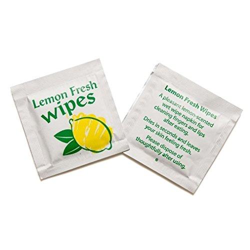 50Erfrischungstücher Zitrone für Reise Party Camping