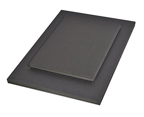 Clairefontaine 93647C Packung (mit 15 Schaumkartons, DIN A3, 29,7 x 42 cm, 3 mm, ideal für Modellieren und Dekorationsarbeiten, leicht und einfach zu bearbeiten, chlorfrei) 15er Pack schwarz