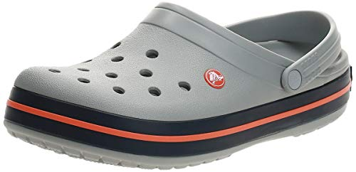 crocs Unisex-Erwachsene Crocband U' Clogs, Grau (Light Grey/Navy), 38/39 EU