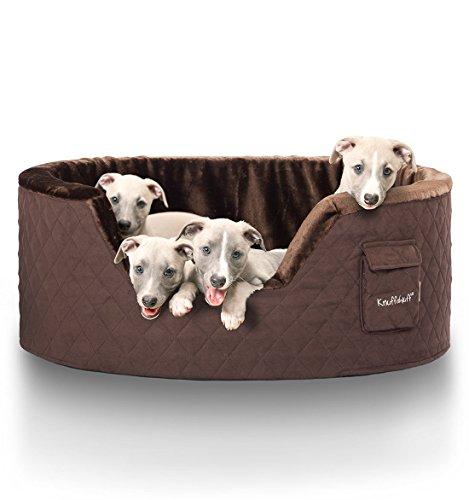 Knuffelwuff 12743 Hundebett Henry aus 5 cm Schaumstoff - Größe XXL, 100 x 80 cm, braun