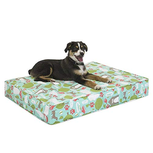 eLuxurySupply Pet Beds - Deluxe Cluster Fiber Filling Pet Beds for Dog and Cats | 100% Cotton Removable Cover | Fully Washable | Small, Medium & Large Pet Beds