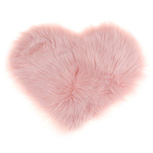 Sharplace Herz Form Teppich Kinderzimmer Weich Plüsch Kinderteppich für Schlafzimmer Wohnzimmer - Rosa