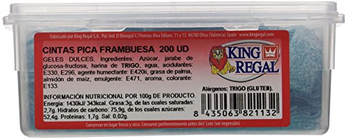 King Regal  Cintas Pica Frambuesa - estuche 70 unidades