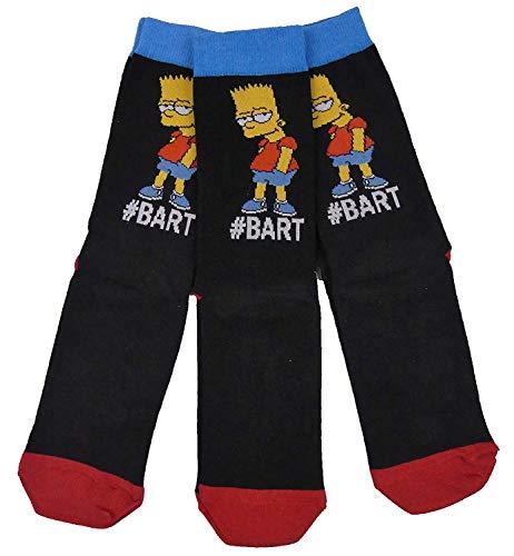 Herren-Socken mit 3 Charakteren in einer tollen Auswahl an Stilen. Gr. One size, Bart Simpson