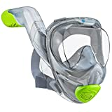 WildHorn Outfitters Seaview 180 V2 Full Face Snorkel Mask with FLOWTECH Advanced Breathing System - Allows for A Natural & Safe Snorkeling Experience- Panoramic Side Snorkel Set Design