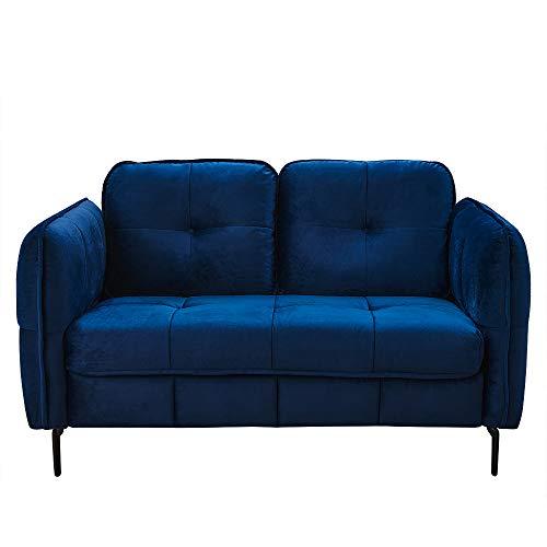 Wealthgirl Sofá tapizado con botones de mediados de siglo para sala de estar, apartamento y sofá de estudio (sofá de 3 plazas)