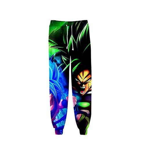 CRBTA Sweatpants Bola de Dragón 3D Unisex Anime Hombres Pantalones Deportivos Pantalones Deportivos Pantalones Deportivos Pantalones de Ocio Joggers Streetwear-S