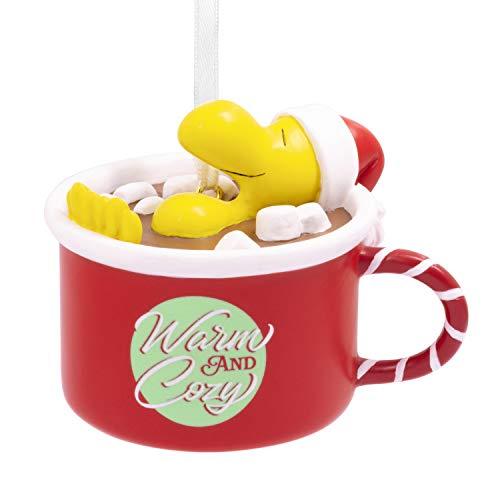 Hallmark Christmas Ornament, Peanuts Santa Woodstock Warm and Cozy Hot Cocoa