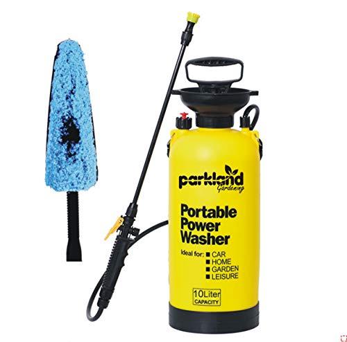 Parkland 10 Litre Hand Pump Manual Pressure Power Washer Sprayer Brush Garden Pressure Sprayer Knapsack Weedkiller Chemical Fence Water Spray Bottle 10L
