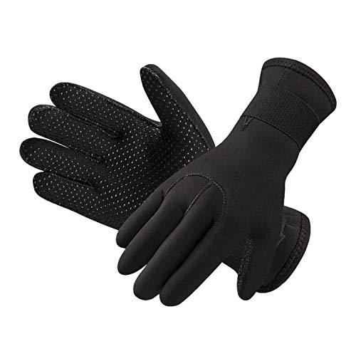Unisex Neoprenanzug Handschuhe 3 mm Neopren Tauchhandschuhe Surfen Schnorcheln Schwimmen Handschuhe für Männer Frauen dehnbar Thermo Anti-Rutsch-Tauchhandschuhe für Spearfishing Rafting Kajak Paddeln
