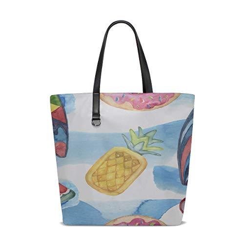 Tote Women Bags Handle Satchel Best Tote Bag Purse Messenger Bags Tote Summer Cool Beautiful Fruit Tree Pool Printing Top Tote Bag For Women