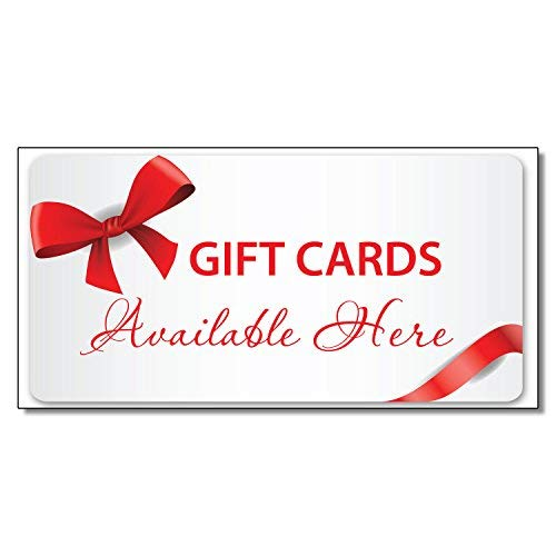 Geschenkkarten für Restaurants, Café, Aufkleber für Geschäfte, Geschäfte, Schild, 11,4 x 30,5 cm
