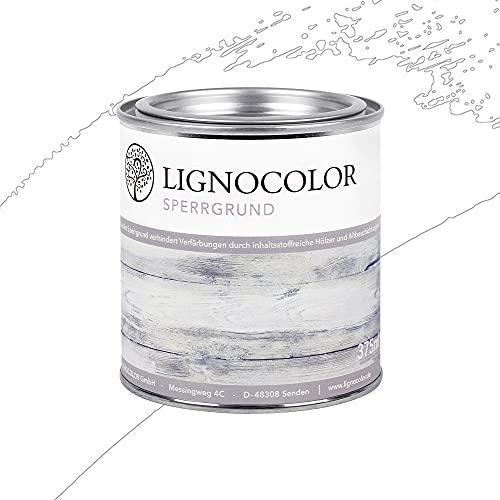 Lignocolor Sperrgrund (Weiss, 375 ml) auf Wasserbasis Isoliergrund Kreidefarbe 375ml