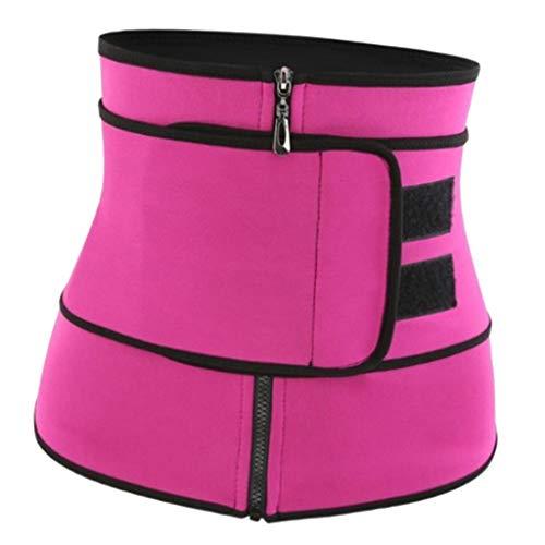 harayaa Entrenador de Cintura para Mujer Cincher de Neopreno con Cremallera Fajas Ajustables para Bajar de Peso - Púrpura XXL