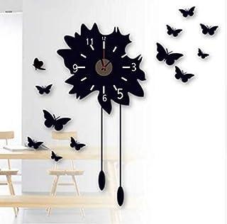 Black Butterfly Clock Wall Decal Home Decor Sticker Living Room decoracion hogar Kids Bedroom Vinyl Clock Stickers-xx