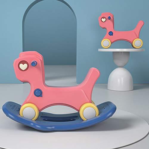 ZHKXBG Baby Schaukelpferd, Kinder Schaukelspielzeug, Kind Schaukel Tier, Indoor Outdoor Baby Schaukelstuhl, Geschenk für 1-3Y,Rot