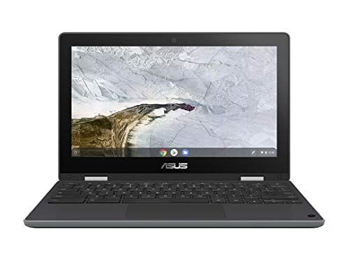 ASUS Chromebook Flip C214MA-BU0410 - Ordenador Portátil de 11.6' HD (Intel Core N4020, 4GB RAM, 32GB eMMC, Intel UHD Graphics 600, Chrome OS) Gris Oscuro-Teclado QWERTY español