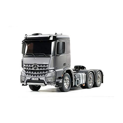 TAMIYA 56359 56359-1:14 Mercedes Benz Arocs 3363 H.Gun Metall Vorlackiert, RC-Truck, fernsteuerbarer LKW, Modellbau, Bausatz, weiß