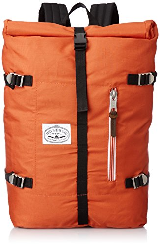 Poler Unisex Rucksack Retro Rolltop, burnt orange, 50 x 40 x 6 cm, 18 liters, 532020