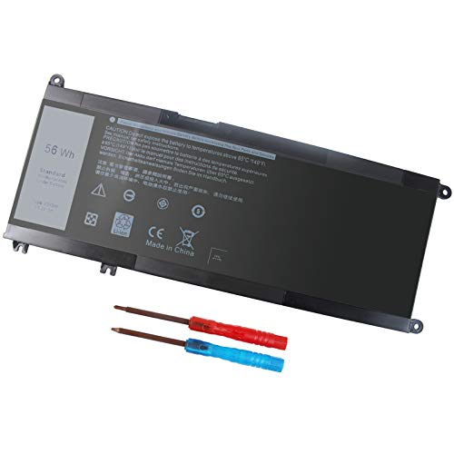 56WH 33YDH Laptop Battery for Dell Inspiron 17 7000 7778 7779 7786 7773 15 7577 G3 3579 3779 G5 5587 G7 7588 Latitude 13 3380 14 3490 15 3590 3580 PVHT1 P30E 81PF3 081PF3-12 Months Warranty