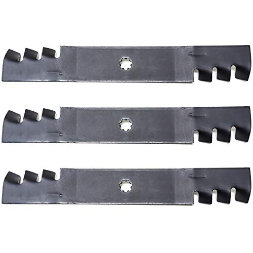 "3PK Mulching Lawn Mower Blades Replacement for John Deere 48"" D140 D150 D160 LA130 LA140 LA145 LA155 LA165 X140 X165 145 155C GX21784 GX21786 GY20852"