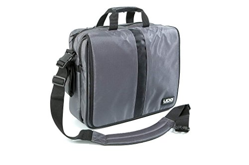 """UDG borsa grigia per trasportare dischi in vinile e laptop 15,4"""" (capienza 40 dischi)"""