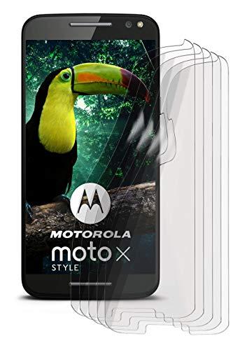 moex Anti Reflex Bildschirmschutzfolie kompatibel mit Motorola Moto X Style | Schutzfolie Matt Bildschirm Folie gegen Reflexionen, flexibel, 5X Stück