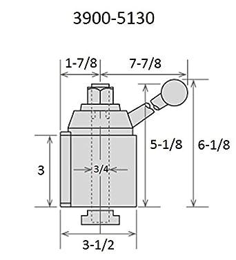 HHIP 3900-5105 AXA #100 Quick Change Tool Post Set Wedge Type