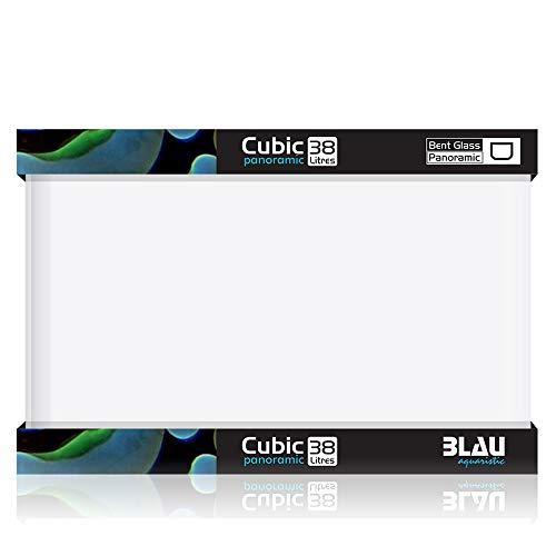 Blau Aquaristic Cubic Panoramic 45 x 28 x 30 cm, 38 Liter, 8500 g