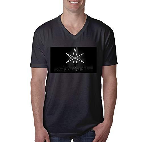 Bring Me The Horizon Camiseta de Manga Corta con Cuello en V para Hombres y j¨®Venes de Moda Blusa Camiseta Mediana