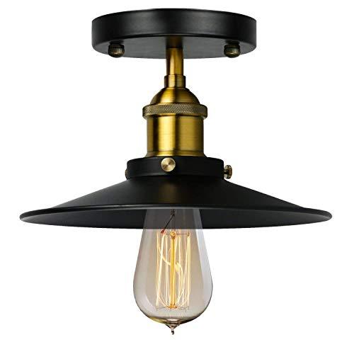 AI LI WEI mooie lampen/Loft American restaurant Aisle gang veranda retro industriële wind bar balkon enkel hoofd zwarte rok plafondlamp