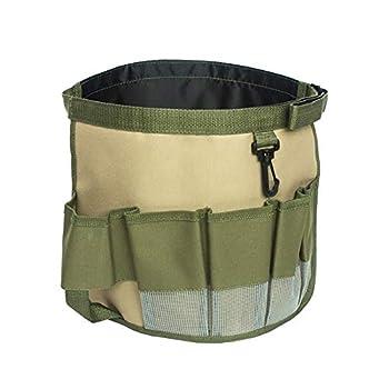 WYI Oxford Garden Tool Bag with Multiple Pockets Adjustable Gardening Tote Bag for 5 Gallon BucketLarge Garden Tool Kit Holder Oxford Bag