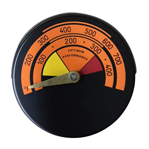 S-TROUBLE Termómetro de Estufa magnética Medidor de Temperatura del Horno para leña de leña Chimenea Ventilador Estufas de Gas Herramientas