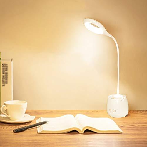 CYR Fuente de luz Dual LED para niños protección Ocular de Aprendizaje lámpara de Escritorio portalápices Soporte para teléfono móvil Lectura Multifuncional Carga luz Nocturna