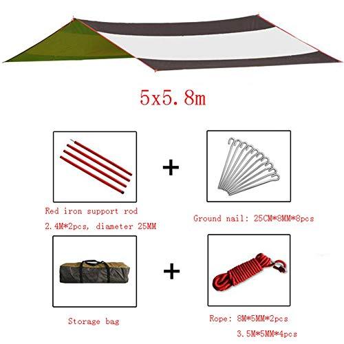 JIANFEI Camping Tarpaulin Tent Tarp Shelter Luifel Hangmat Strand Picknick Accommodatie 8~10 Personen Mobiele Garage,2 Kleuren 500x580cm A