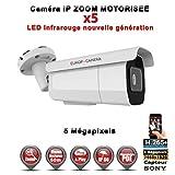 Europ-Camera Tube IP Zoom Motorisée X5 Anti-Vandal IR 60M ONVIF POE Capteur Sony 5 MegaPixels - Caméra Surveillance IP