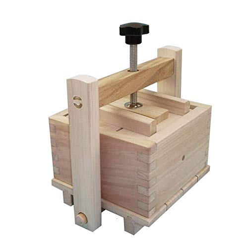 Lzttyee Homemade Wood Tofu Maker/Press Set to Make Delicious Tofu for Home Kitchen Restaurant