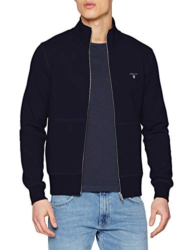 GANT Herren The ORIGINAL Full Zip Cardigan Pullover, Evening Blue, XS