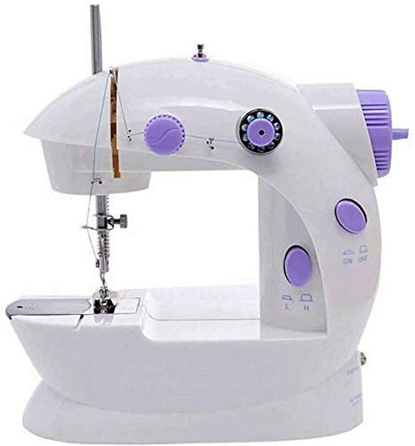 ZHTY Macchina da cucire, Mini macchina da cucire con tavolo allungabile, macchina da cucire elettrica Piccola macchina da cucire domestica con pressore sostituibile, Elettrico