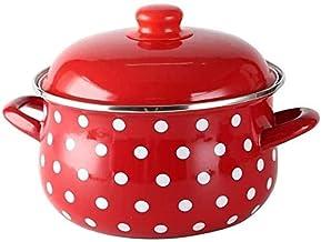 Praktisch Casserole gerechten braadpan gerechten gieten geëmailleerde ronde braadpan geschikt voor gebruik op een kookplaa...