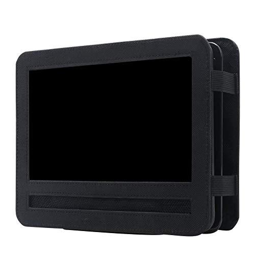 Funihut - Soporte de Reproductor de DVD portátil para reposacabezas de Coche, fijación por Correas, Color Negro