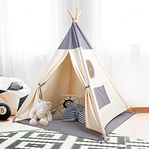 besrey Tente Enfant Intérieur Tente Chambre Tipi Tente Enfant Pliable