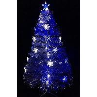Christmas Concepts Ltd 60 Pulgadas (5FT) de Fibra óptica Transparente LED Azul árbol de Navidad con Las Luces/LED Blanco
